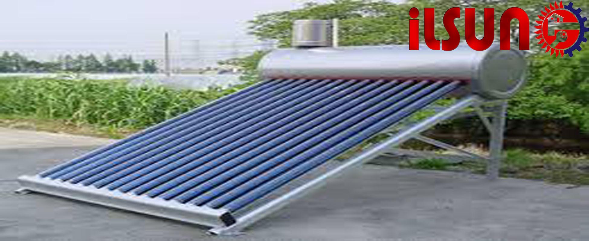 خرید آبگرمکن خورشیدی . نصب آبگرمکن خورشیدی روی زمین