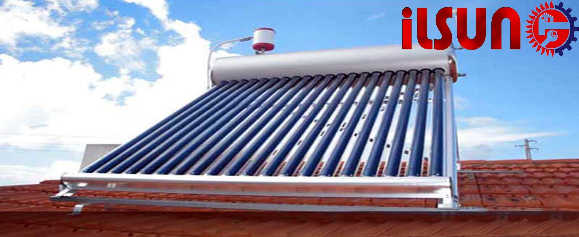 خرید آبگرمکن خورشیدی . بهترین زاویه برای نصب آبگرمکن خورشیدی